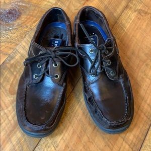 Sperry Dark brown leather lace up shoes Size 8.5